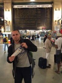Euro pass at Gare de Nord Paris